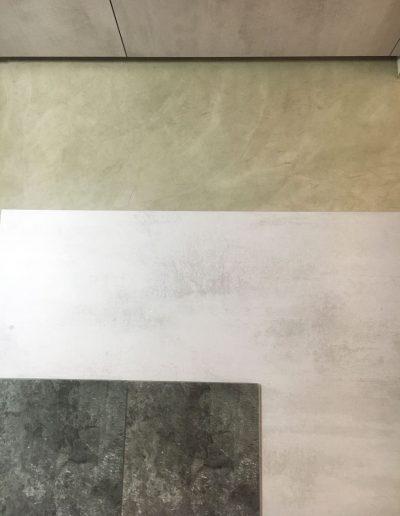 textura suelo y cocina microcemento