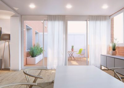 Terraza interior. med.arquitectos