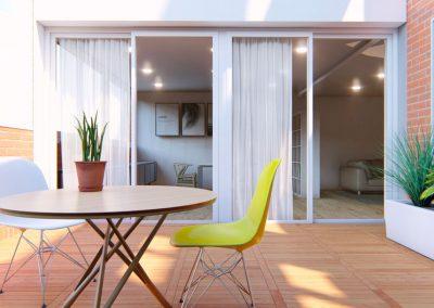 Terraza exterior. med.arquitectos